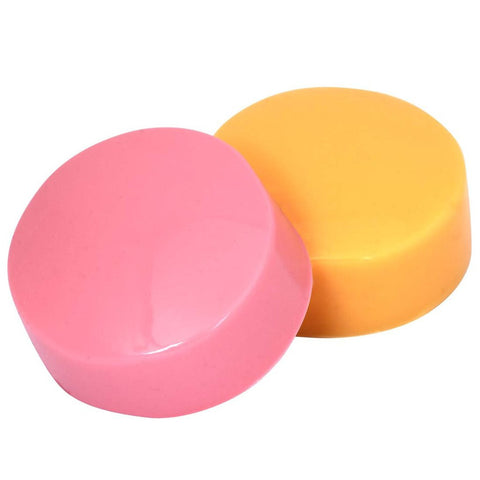 2pc Semi Squishy Silicone Replacement Heads for Mega Stamper - Pink and Orange