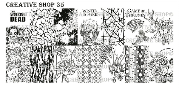 Creative Shop Stamping Plate 35