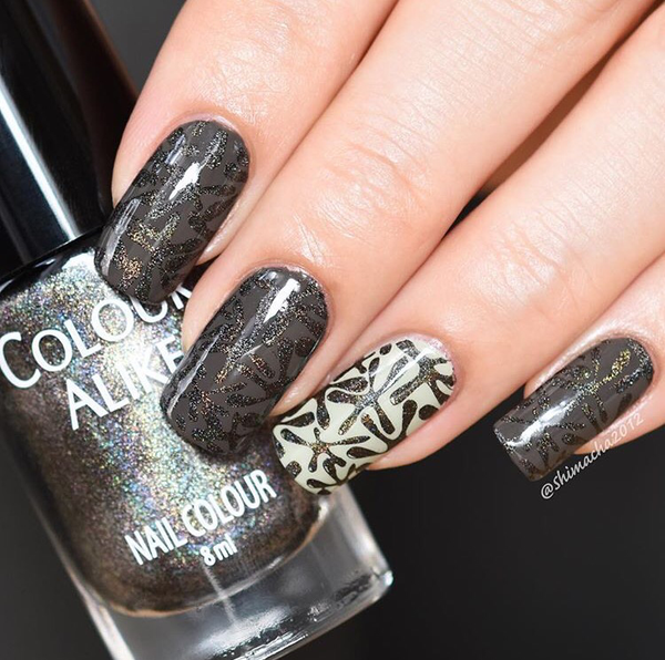 Colour Alike stamping polish - Prince (black holo)