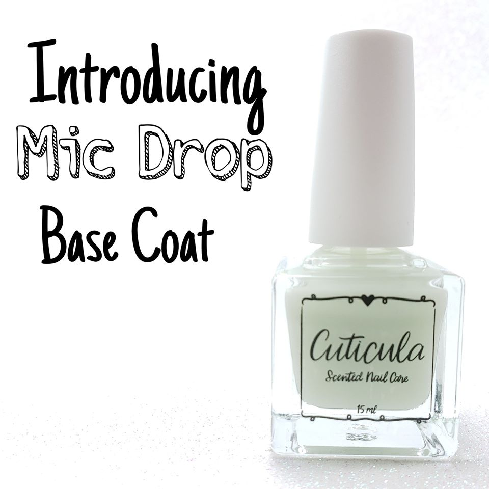 Cuticula Mic Drop strengthening ridge filling sticky Base Coat (various scents)