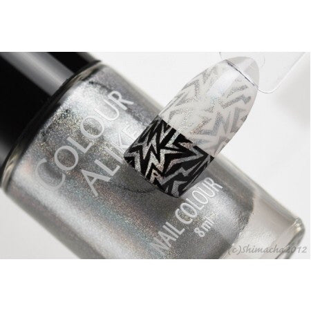 Colour Alike stamping polish - Princess (silver holo)