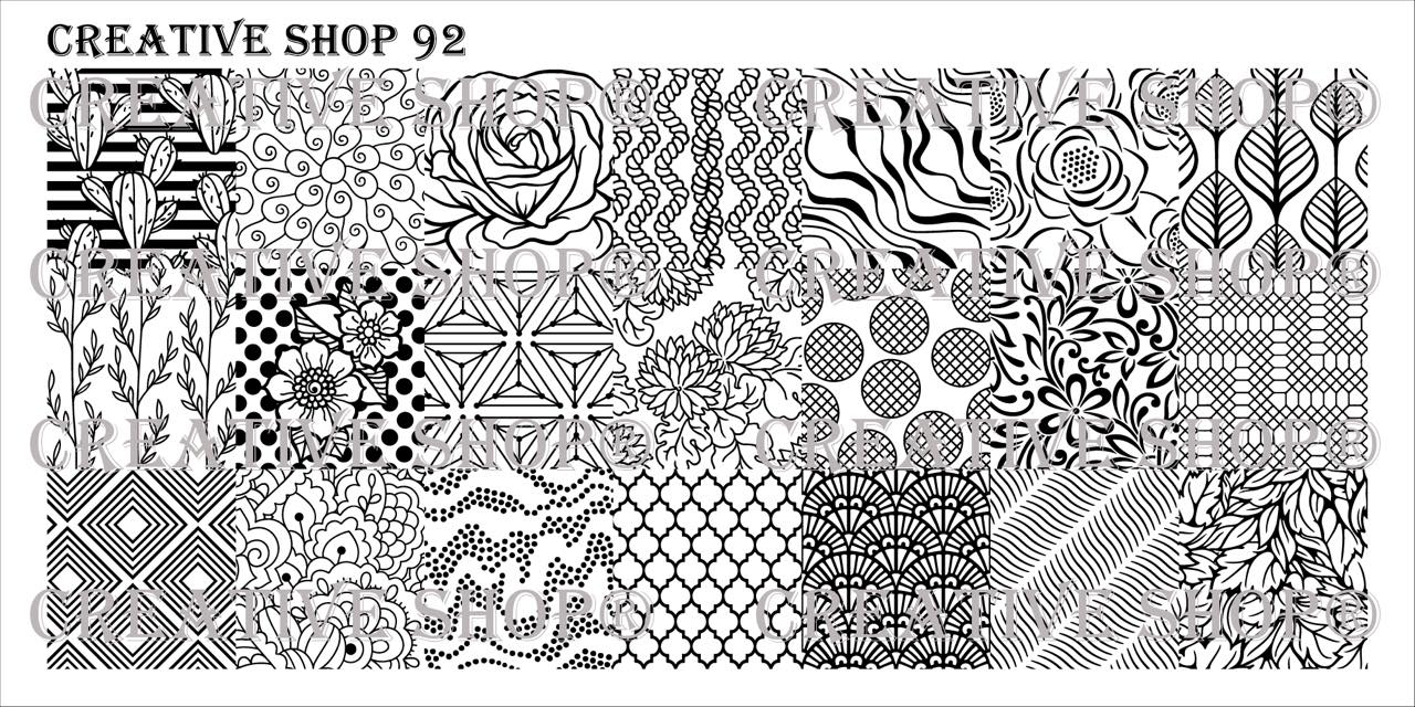 Creative Shop Stamping Plate 92