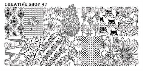 Creative Shop Stamping Plate 97