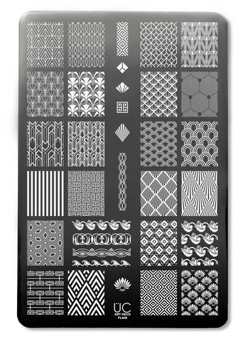 Art Deco Flair - UberChic Nail Stamping Plate
