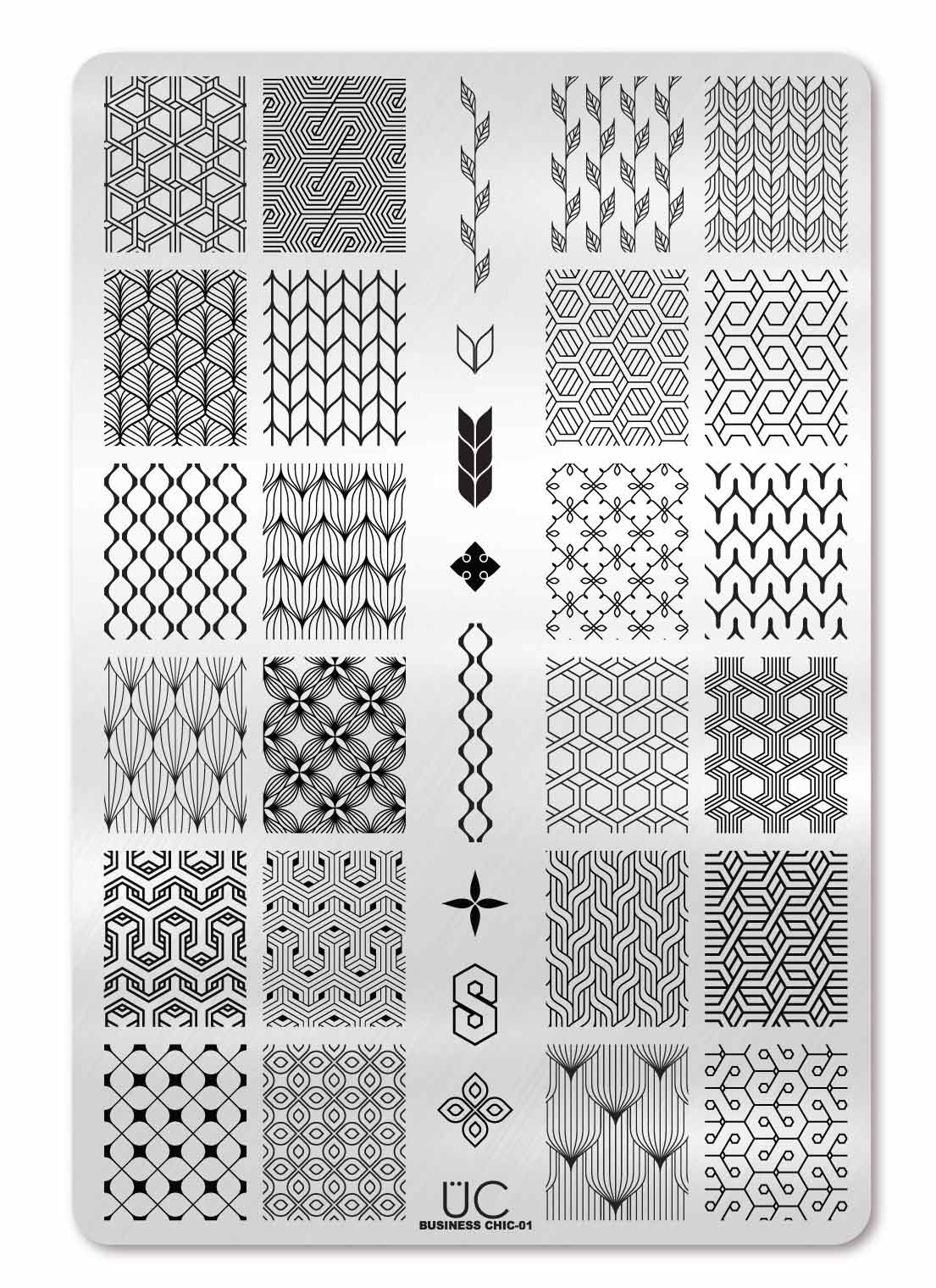 Business Chic-01 - UberChic Nail Stamping Plate