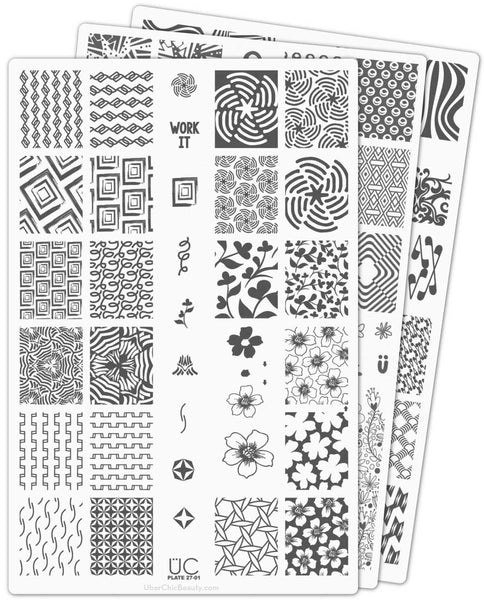 UberChic Nail Stamp Plates - Collection 27