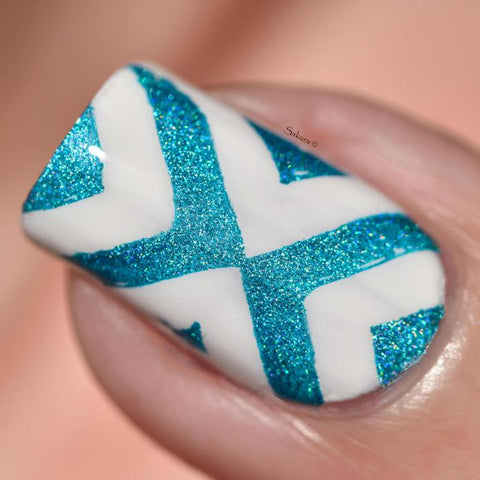 Colour Alike stamping polish - Hawaiian Blue (blue holo)
