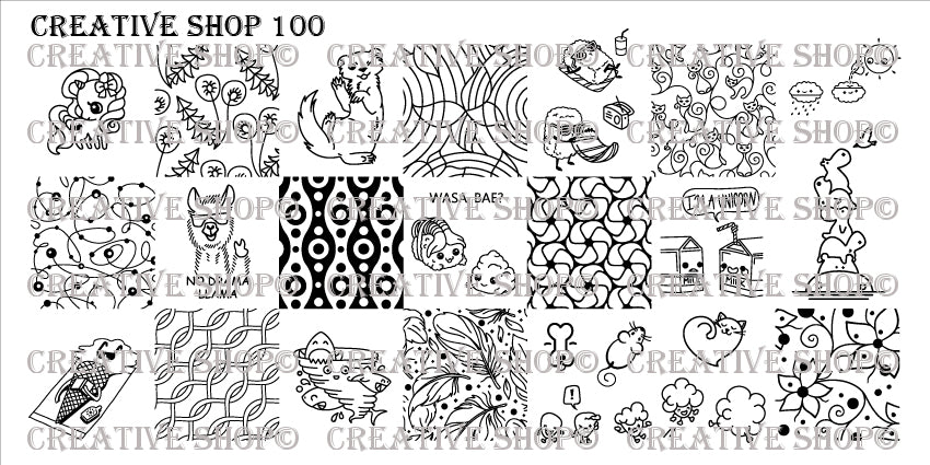 Creative Shop Stamping Plate 100