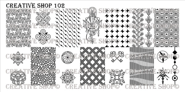 Creative Shop Stamping Plate 102