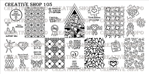 Creative Shop Stamping Plate 105