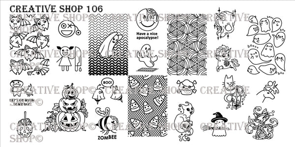 Creative Shop Stamping Plate 106