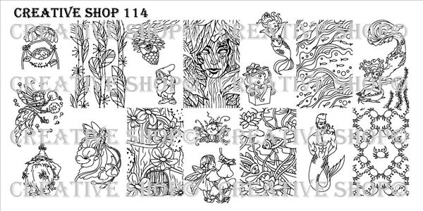 Creative Shop Stamping Plate 114