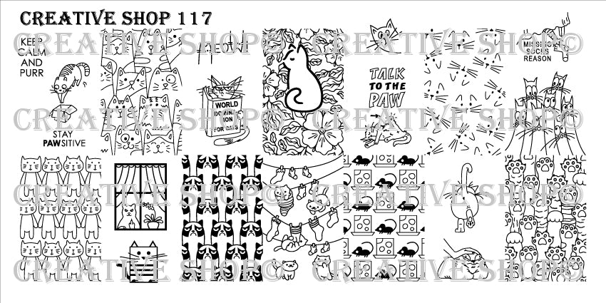 Creative Shop Stamping Plate 117