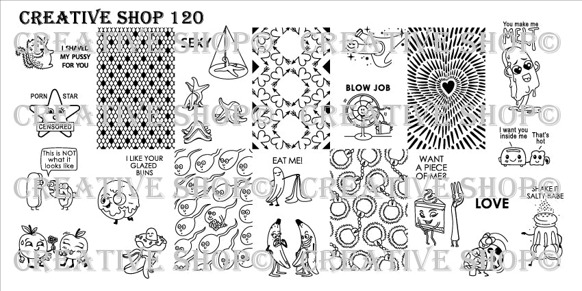 Creative Shop Stamping Plate 120