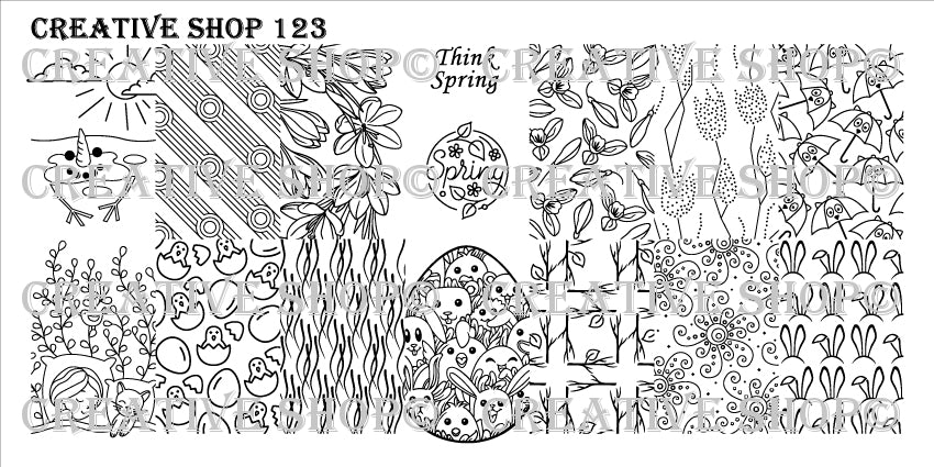 Creative Shop Stamping Plate 123
