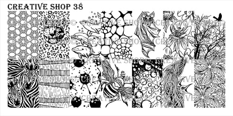 Creative Shop Stamping Plate 38