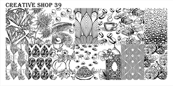 Creative Shop Stamping Plate 39