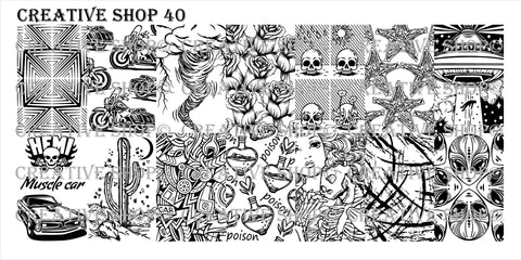 Creative Shop Stamping Plate 40