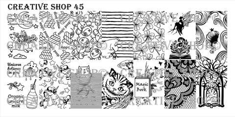 Creative Shop Stamping Plate 45