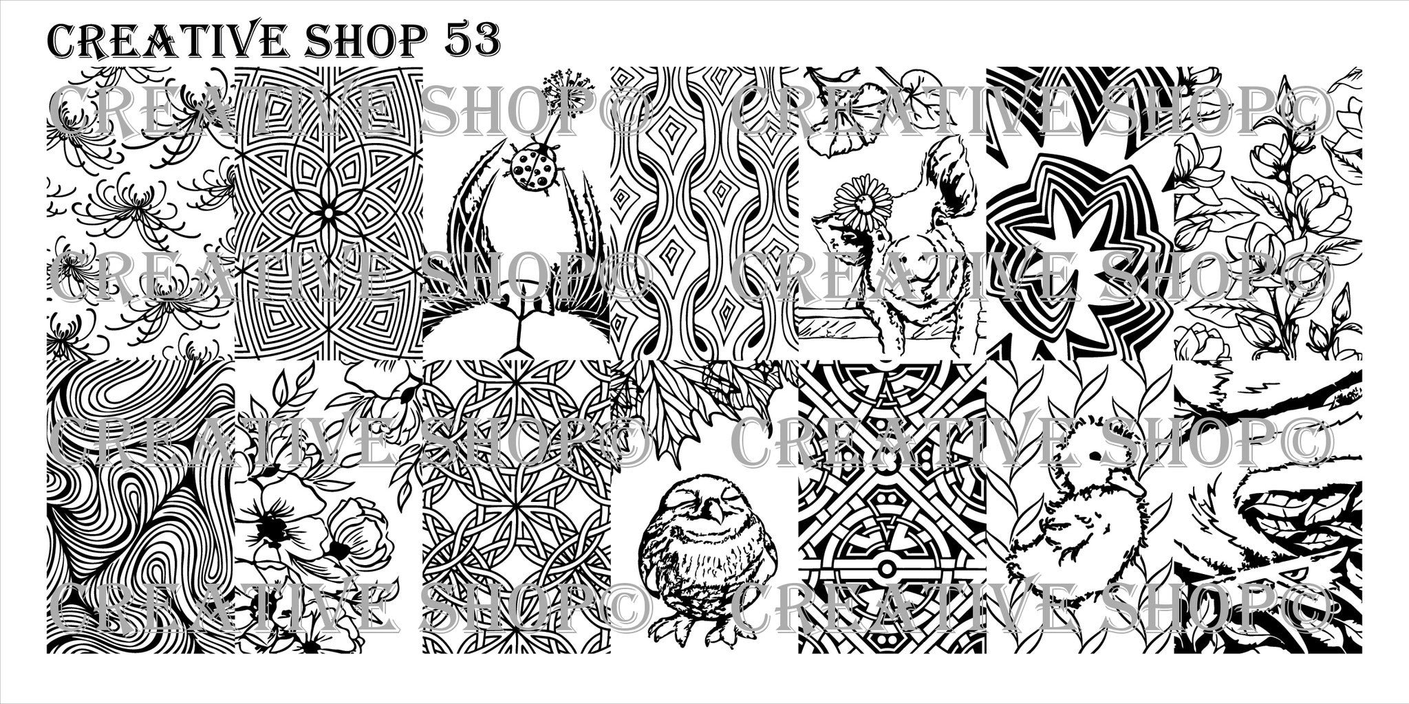 Creative Shop Stamping Plate 53