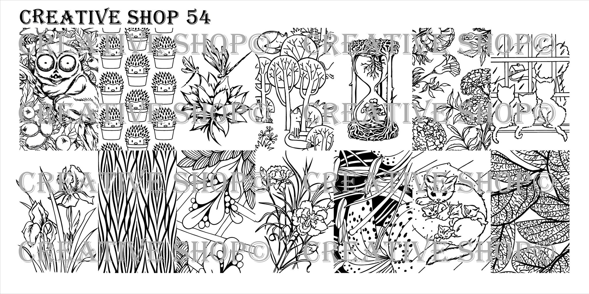 Creative Shop Stamping Plate 54