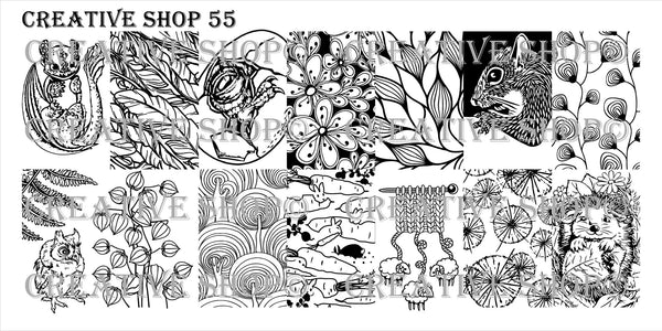 Creative Shop Stamping Plate 55