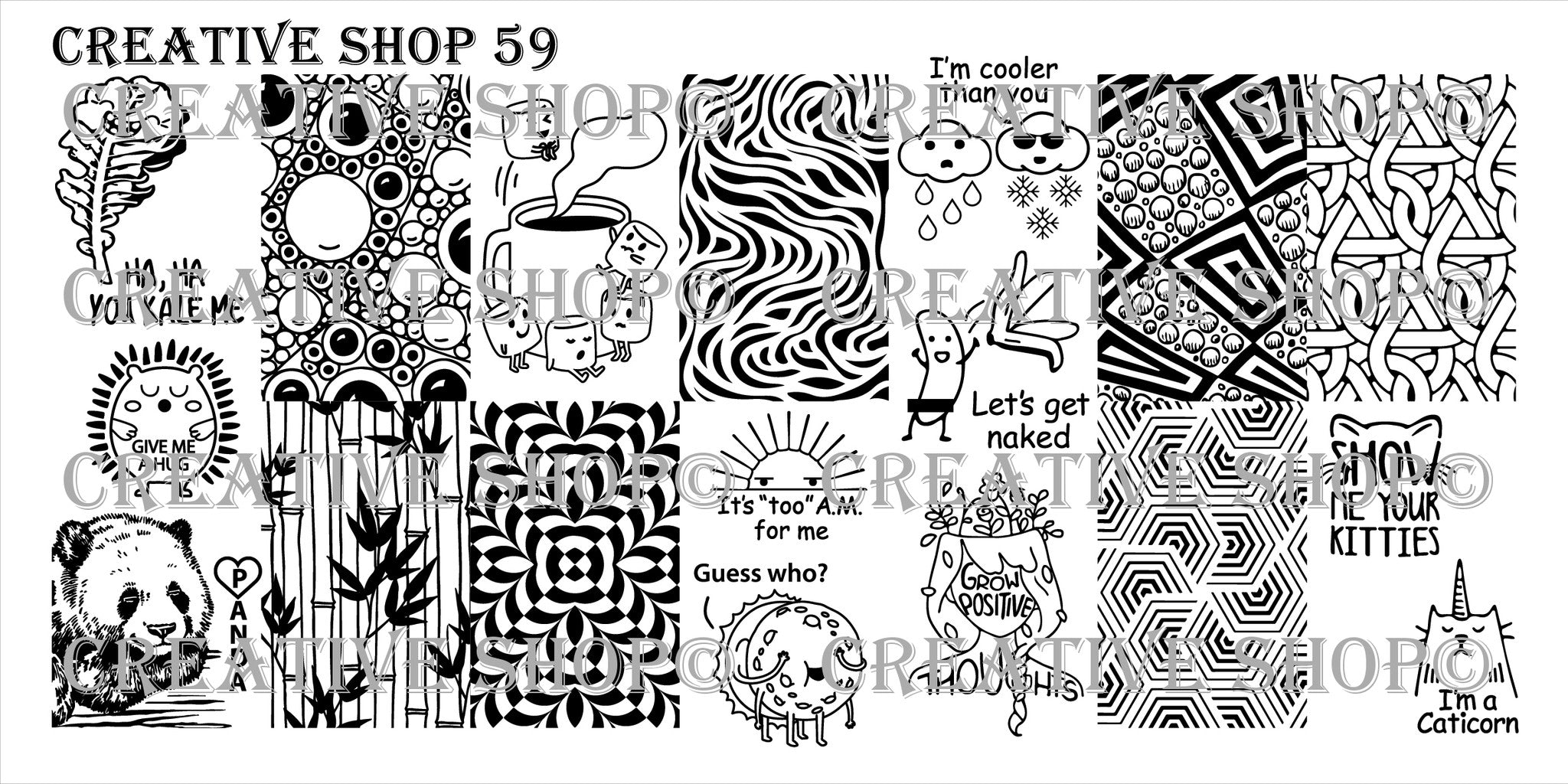 Creative Shop Stamping Plate 59