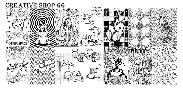 Creative Shop Stamping Plate 66