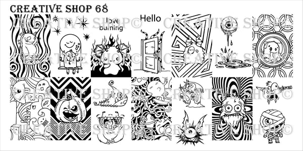 Creative Shop Stamping Plate 68