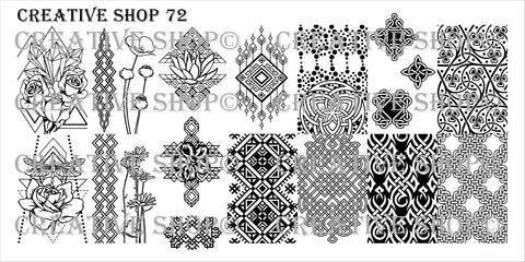 Creative Shop Stamping Plate 72