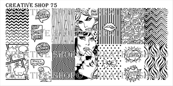Creative Shop Stamping Plate 75