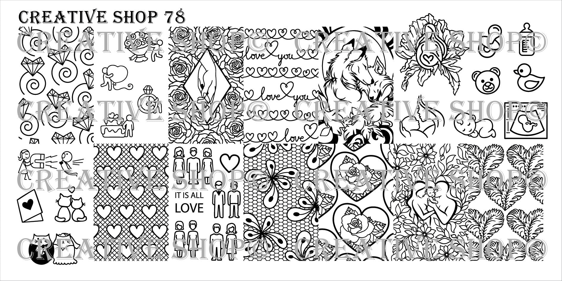 Creative Shop Stamping Plate 78