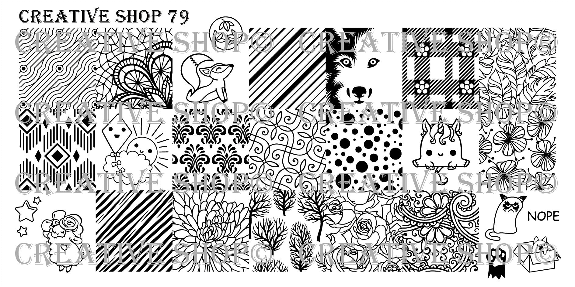 Creative Shop Stamping Plate 79
