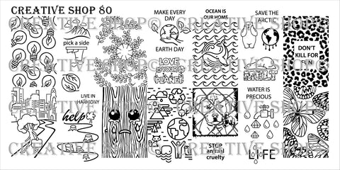 Creative Shop Stamping Plate 80