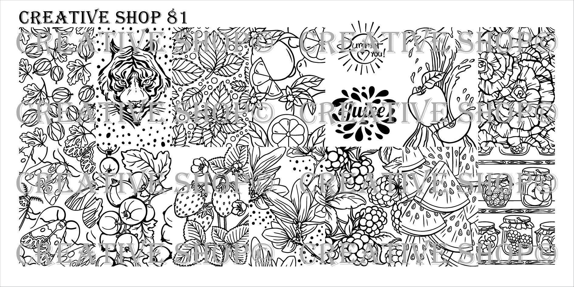 Creative Shop Stamping Plate 81