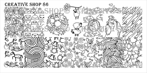 Creative Shop Stamping Plate 86