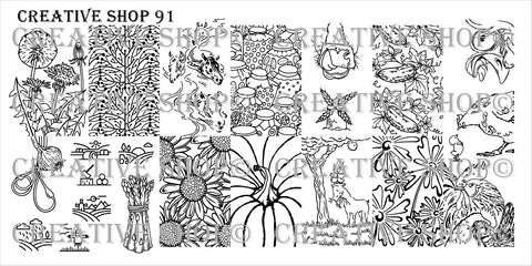 Creative Shop Stamping Plate 91