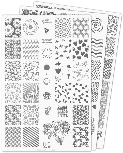 UberChic Nail Stamp Plates - Collection 19