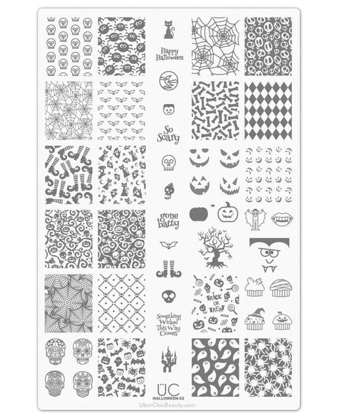 Halloween-02 - UberChic Nail Stamping Plate