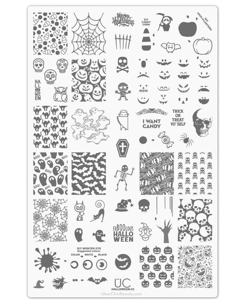 Halloween-03 - UberChic Nail Stamping Plate