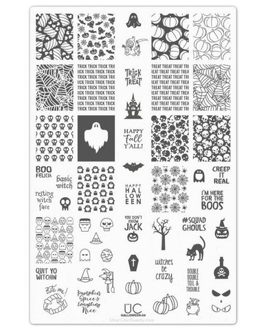 Halloween-04  - UberChic Nail Stamping Plate