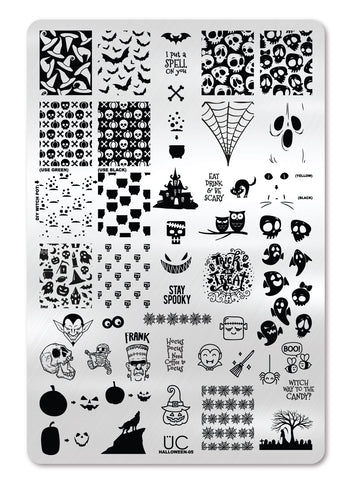 Halloween-05 - UberChic Nail Stamping Plate