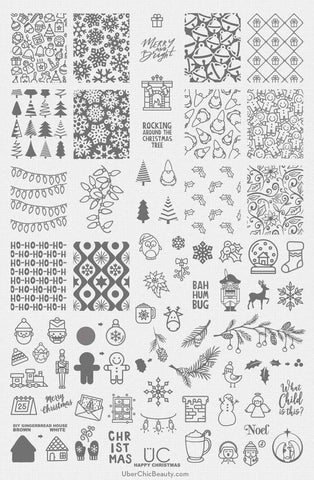 Happy Christmas - UberChic Nail Stamping Plate