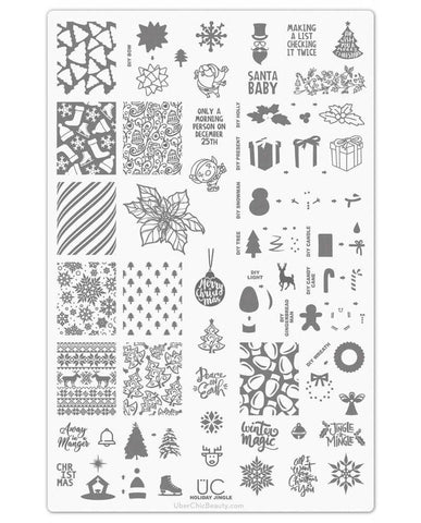 Holiday Jingle - UberChic Nail Stamping Plate