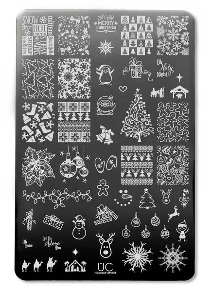 Holiday Spirit - UberChic Nail Stamping Plate