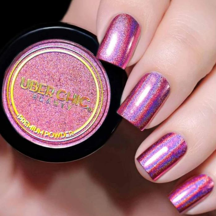Holographic Pink - Premium Powder