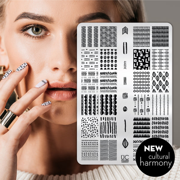 Cultural Harmony - UberChic Nail Stamping Plate