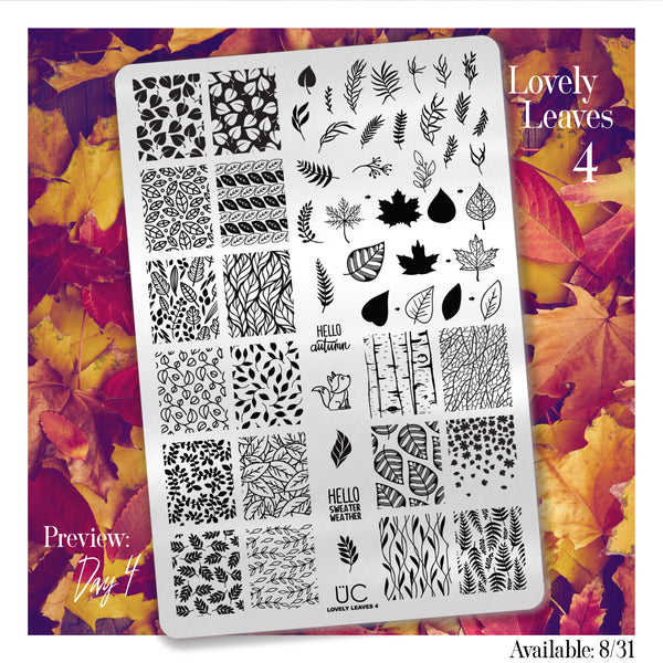 Lovely Leaves-04 - UberChic Nail Stamping Plate