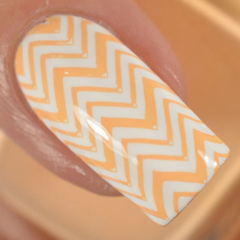 STAMPED IN PEACH