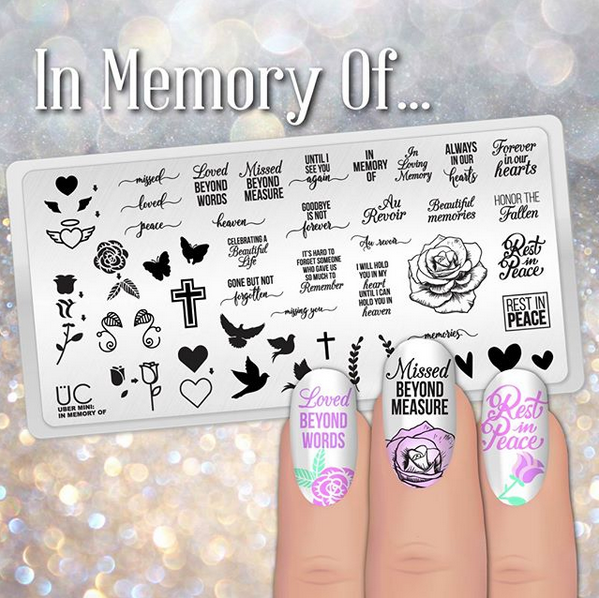 In Memory Of - Uber Mini Nail Stamp Plate